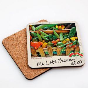 Onderzetters Hardboard Vierkant – Groenten