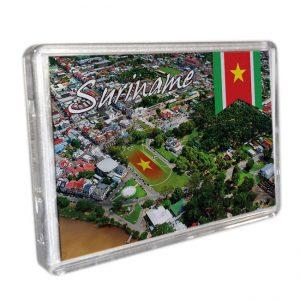 Magneet-Acrylic-Frame <BR>Paramaribo SkyView