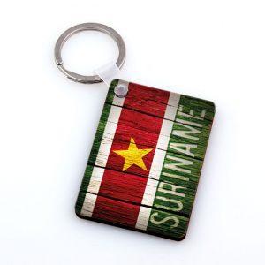 Sleutelhanger-Hardboard <BR> Suriname-hout