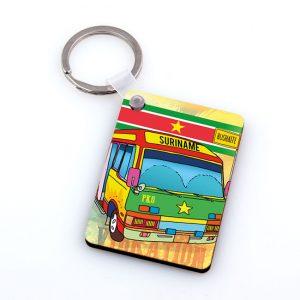 Sleutelhanger-Hardboard – Bus