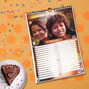 Verjaardag's Kalender A4/A3<BR>12-bladig – Gepersonaliseerd