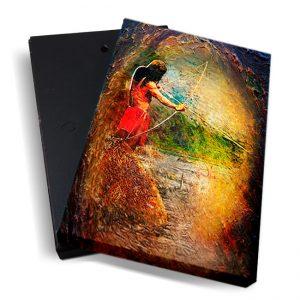 Canvasbox – Fosteng <BR> Indiaan – verticaal