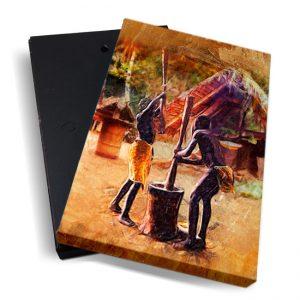 Canvasbox – Fosteng marrons – verticaal