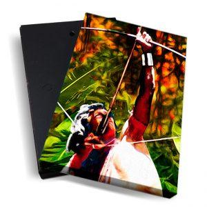Canvasbox – art<BR> Indiaan02 – verticaal