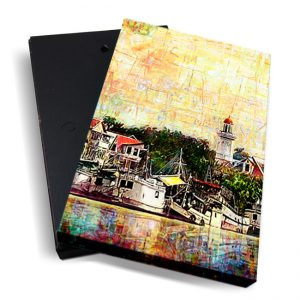 Canvasbox – art <BR> WaterkantView-verticaal