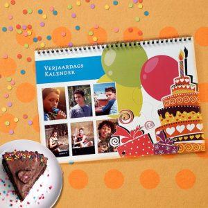 Verjaardag's Kalender A4 <BR>DZ – 6-bladig – Gepersonaliseerd