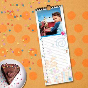 Verjaardag's Kalender LONG<BR>12-bladig – Gepersonaliseerd