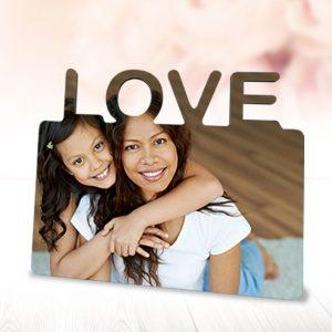 Fotostaander-Hout-LOVE – Gepersonaliseerd