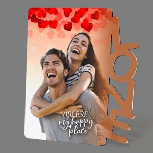 Fotostaander-Hout-LOVE<BR>Gepersonaliseerd