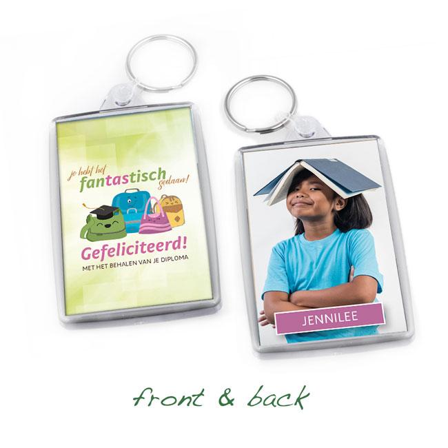 sleutelhanger, keyring, geslaagd, graduation, surinaamse souvenirs, gepersonaliseerde geschenken, kado