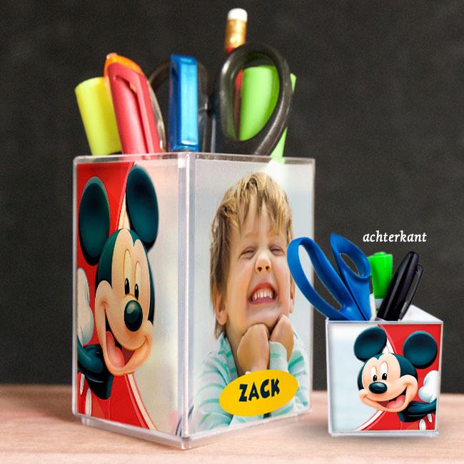 penhouder, pennenbak, kado, surinaams, gepersonaliseerd geschenk, Mickey mouse