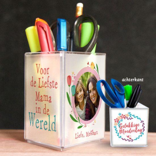 penhouder, pennenbak, kado, surinaams, moederdag, gepersonaliseerd geschenk