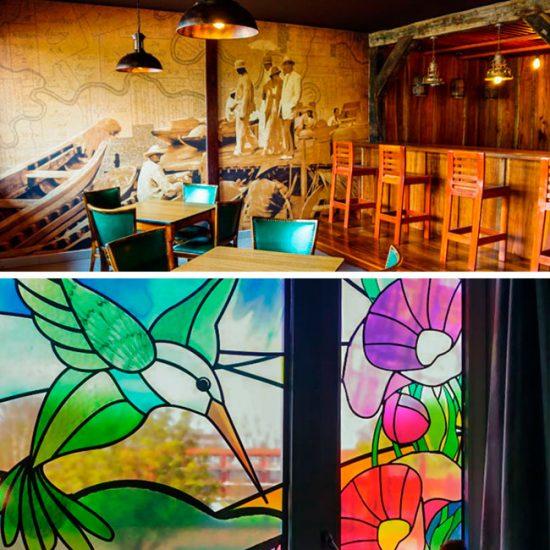 wand decoratie, muurstickers, glas in lood