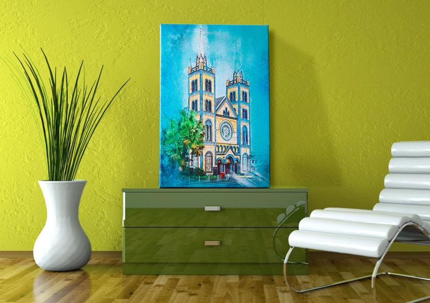 surinaamse kunst, digitale kunst, suriname, kathedraal