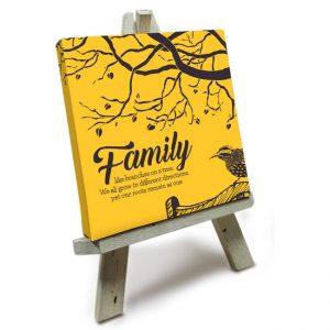 Mini Canvas met Easle<BR>Family like Branches on a tree