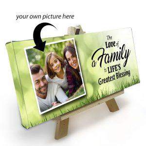 Mini Canvas met Easle_Family…Life's greatest blessing (gepersonaliseerd)