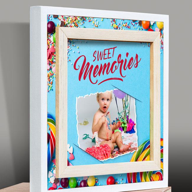 Canvas 3D lijst, suriname souvenirs, exclusief, gepersonaliseerd, fotokado