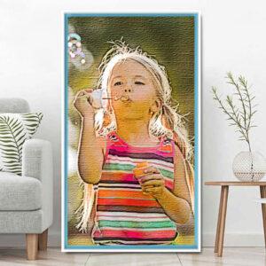 Canvas inclusief lijst<BR>Gepersonaliseerd – 100x50cm